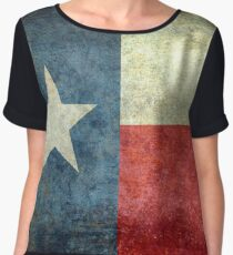 """The """"Lone Star Flag"""" of The Lone State Texas Chiffon Top"""