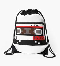 Tape Cassette Pixel Art Drawstring Bag