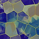 Stained Glass Polygons (Greens & Purples) by Helmar Designs