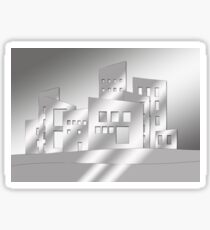 Abstract Gray Scale Architecture Sticker