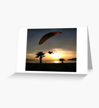 Dropzone At Dusk Greeting Card