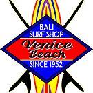 Surfer VENICE BEACH California Surfing Surfboard Ocean Beach Vacation by MyHandmadeSigns