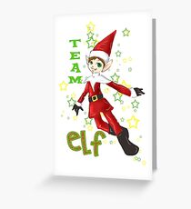 Team Elf  Greeting Card