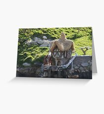Cottage A Quaint Resting Home Holiday House Greeting Card