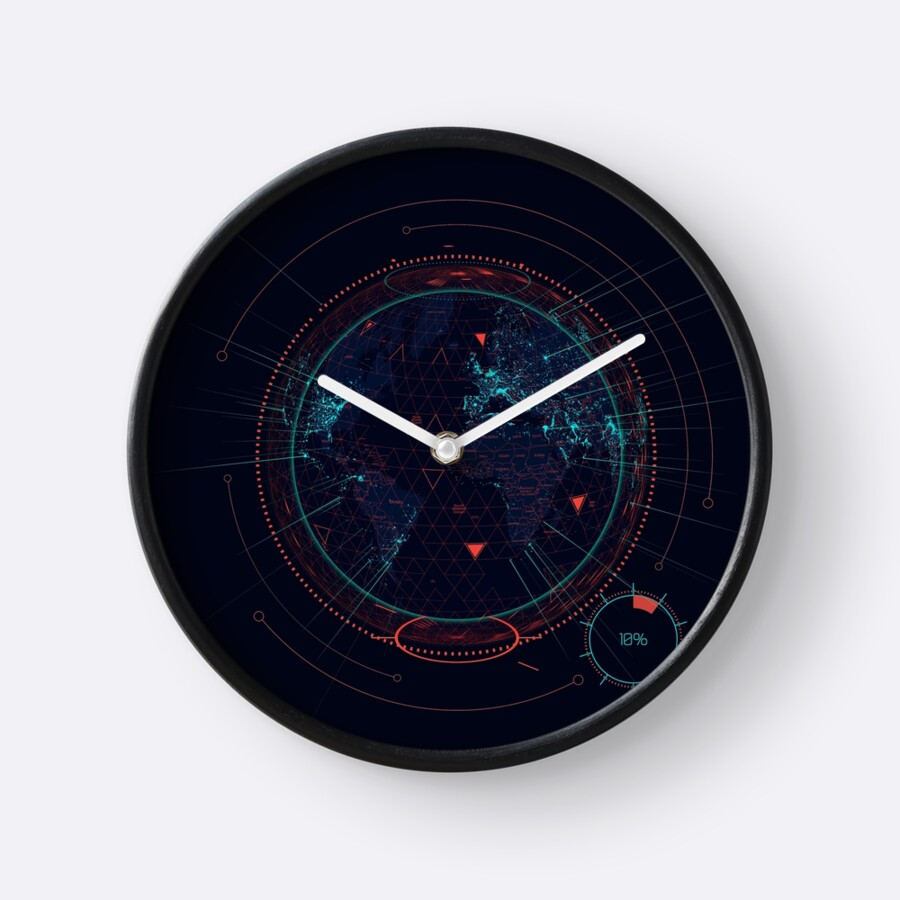 Sci fi futuristic interface clocks by maximgertsen redbubble sci fi futuristic interface by maximgertsen amipublicfo Image collections