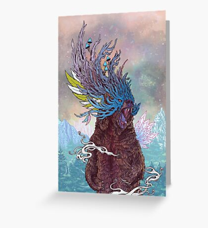 Journeying Spirit (Bear) Greeting Card