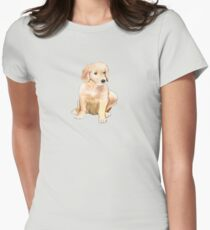 Golden Puppy  Womens Fitted T-Shirt