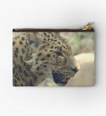 Amur leopard (Panthera pardus orientalis) Studio Pouch