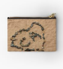 Love Message in the Sand Studio Pouch