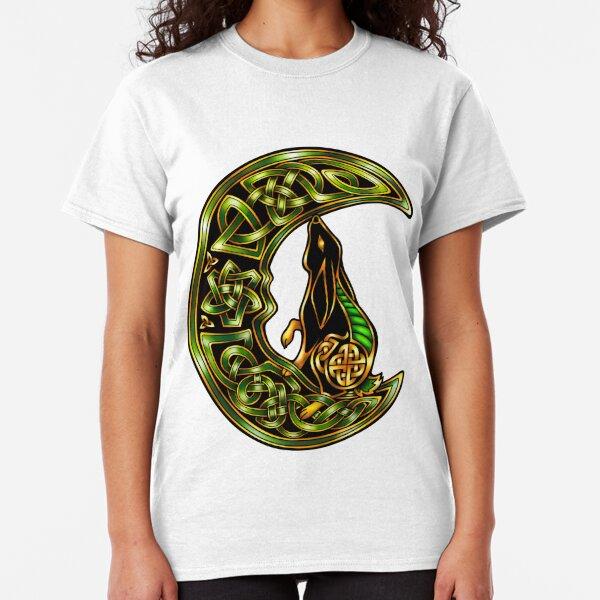 Black Celtic Hare Classic T-Shirt