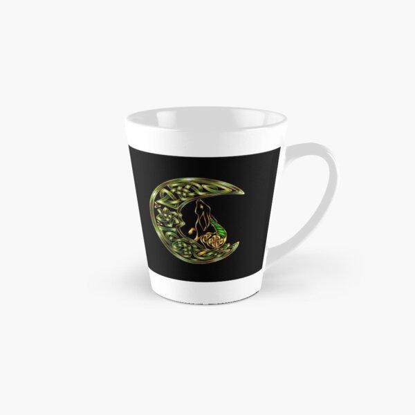 Black Celtic Hare Tall Mug