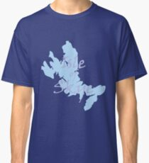 Isle of Skye Map with text Classic T-Shirt