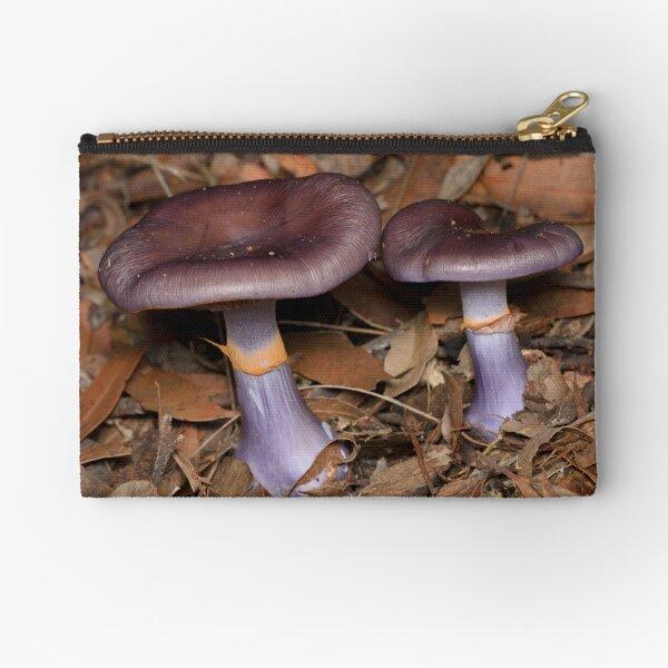 Purple Fungi - Cortinarius archeri Zipper Pouch