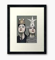 The Girls With Hats Framed Print