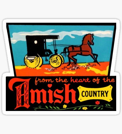 Amish Country Vintage Travel Decal Sticker