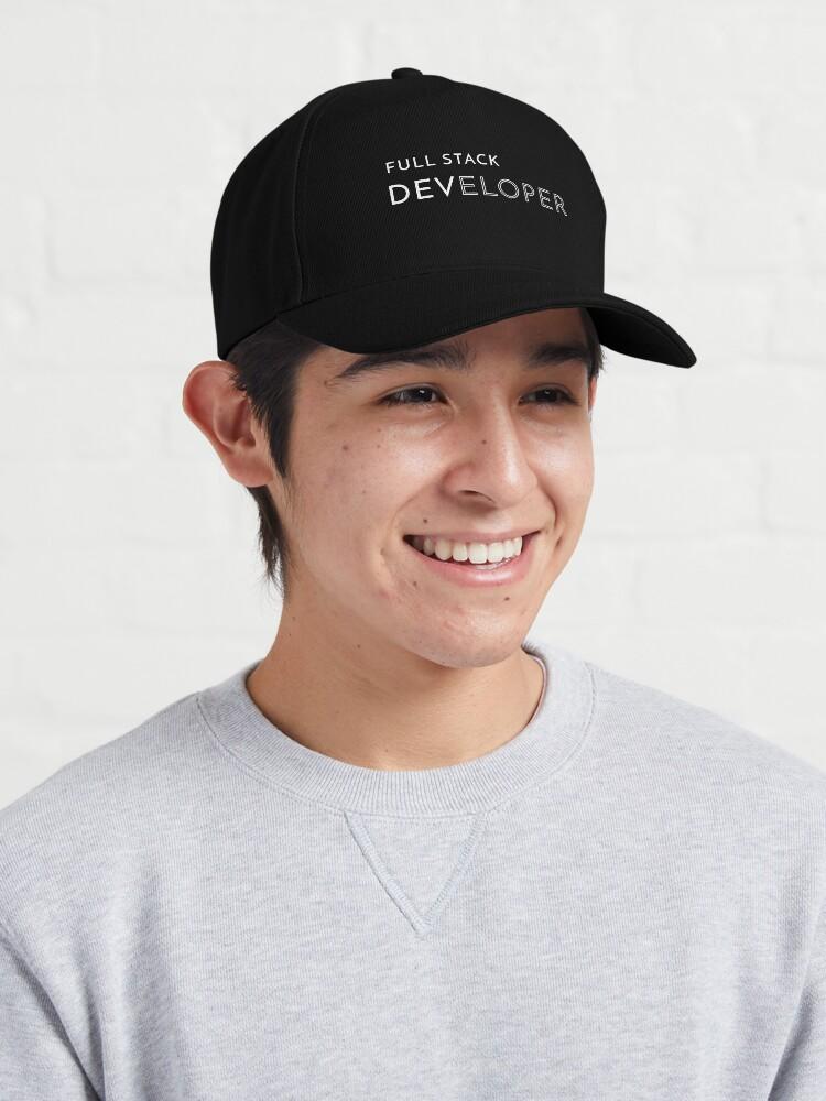 Alternate view of Full Stack Developer Cap