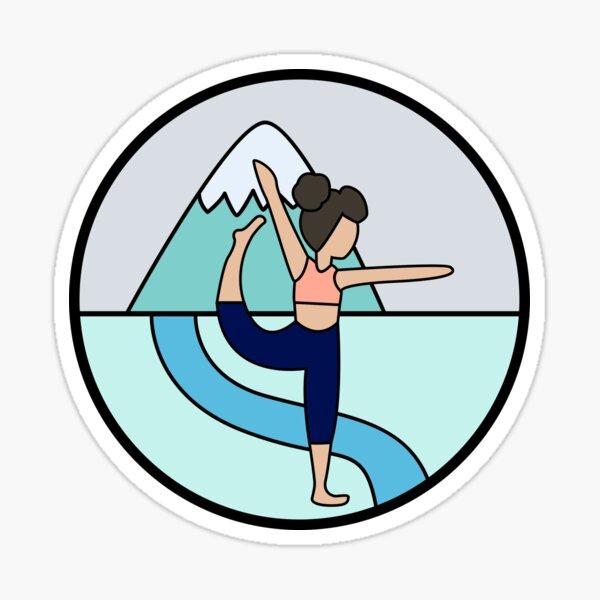 Brunette Yoga Girl Sticker