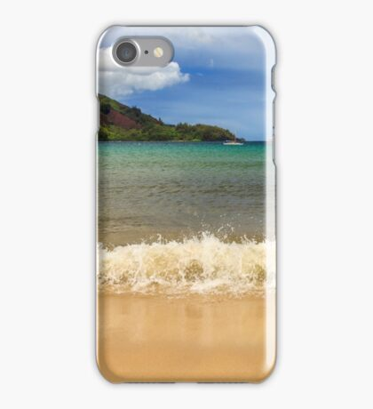 The Surf At Hanalei Bay iPhone Case/Skin