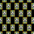Mustache Panda 4 (Pattern 6) by Adamzworld
