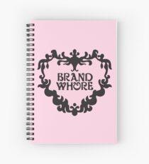 Brand Whore, BABY PINK Spiral Notebook