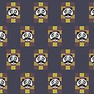 Mustache Panda 3 (Pattern 3) by Adamzworld