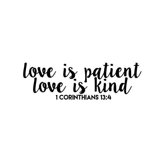 bible verses on being patient for love