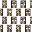 Mustache Panda 3 (Pattern) by Adamzworld