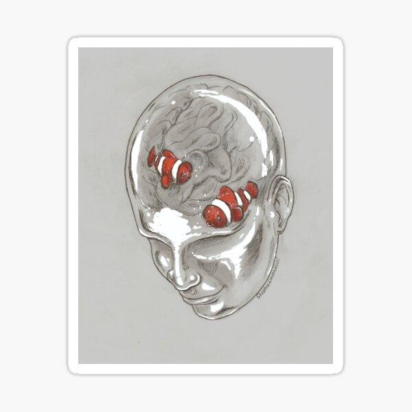 Brain Fish Sticker