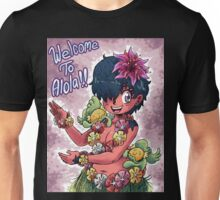 Girl With Hula Critters Unisex T-Shirt