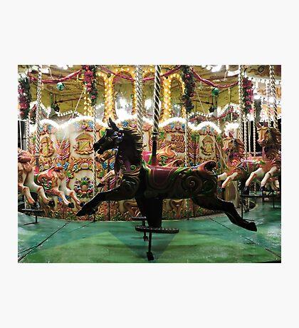 Carousel Black Beauty Photographic Print