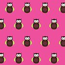 Brown & Green Owl (Pattern 2) by Adamzworld