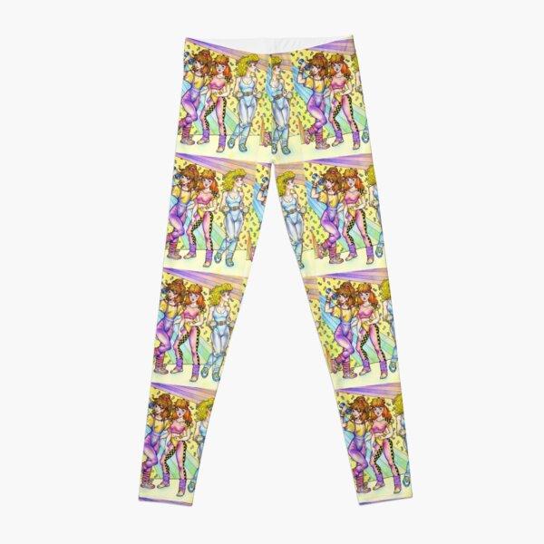 1980s Aerobic Girls! 80s throwback Leggings