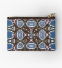 Blue and Brown Studio Pouch