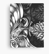 Abstract Hand Drawn Surreal Flower Looking Design Canvas Print