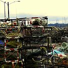 Fishing Traps at  Depoe Bay, Oregon by Joe Hewitt