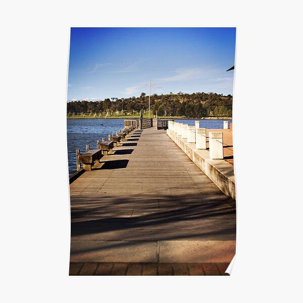 Jetty at Lake Tuggeranong, Canberra, Australian Capital Territory (5) Poster