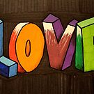 Rainbow love typography by cocodesigns