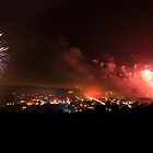Lewes Bonfire Panorama by petegrev