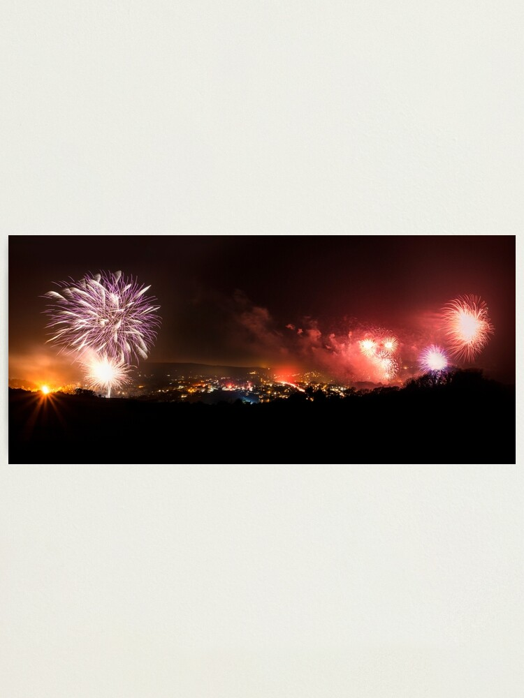 Alternate view of Lewes Bonfire Panorama Photographic Print
