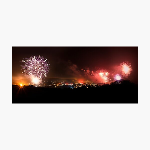 Lewes Bonfire Panorama Photographic Print