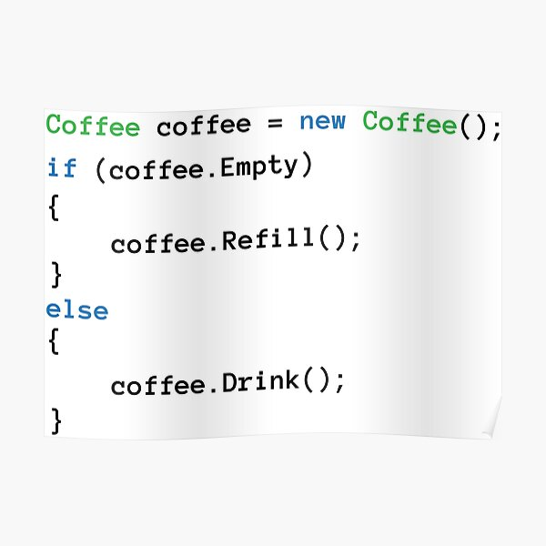 Coffee code Poster