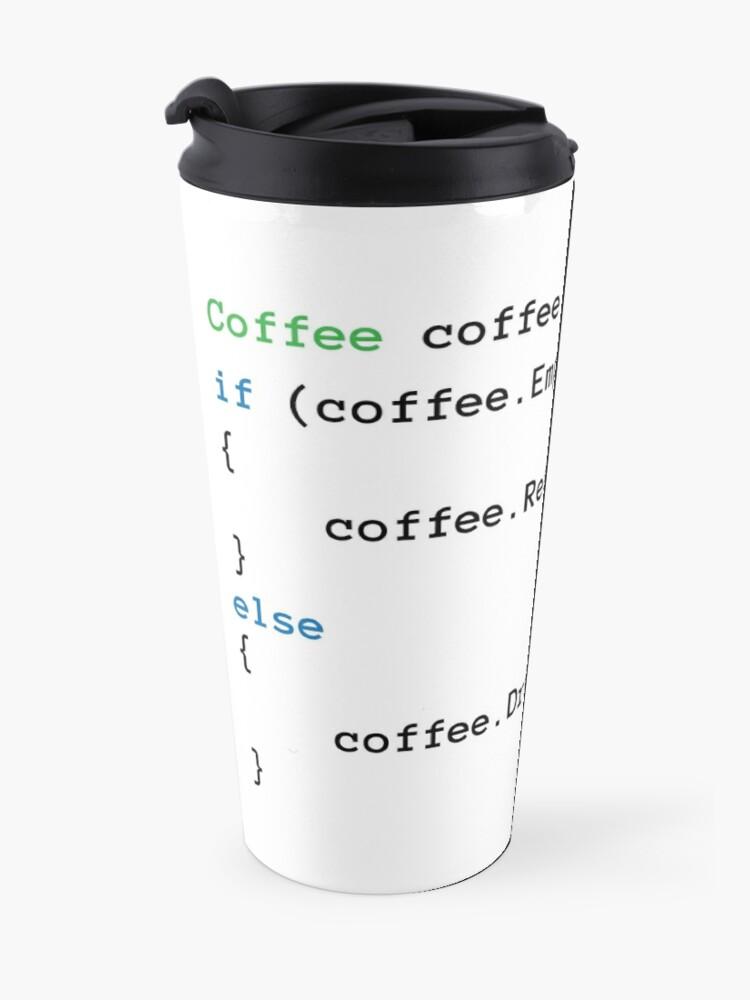 Alternate view of Coffee code Travel Mug