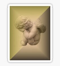 Weeping Cherub ~ Angel Sticker