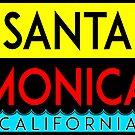 SURFING SANTA MONICA CALIFORNIA SURF BEACH VACATION PALM TREE VINTAGE by MyHandmadeSigns