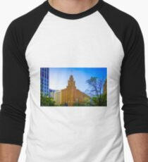 View to the Manchester Unity Building - Melbourne, Victoria Men's Baseball ¾ T-Shirt