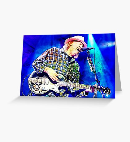 Neil Young Abstract Art Greeting Card