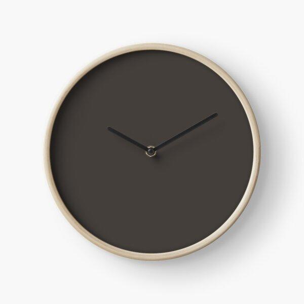 Dark Brown Solid Color Pairs 2022 Popular Color HGTV Black Fox HGSW3471 -  Colour Trends - Popular Hues Clock