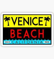SURFING VENICE BEACH CALIFORNIA SURF BEACH VACATION PALM TREE VINTAGE Sticker
