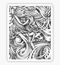 Escher Like Abstract Hand Drawn Graphite Gray Depth Sticker