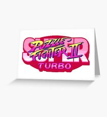 Puzzle-Fighters Greeting Card